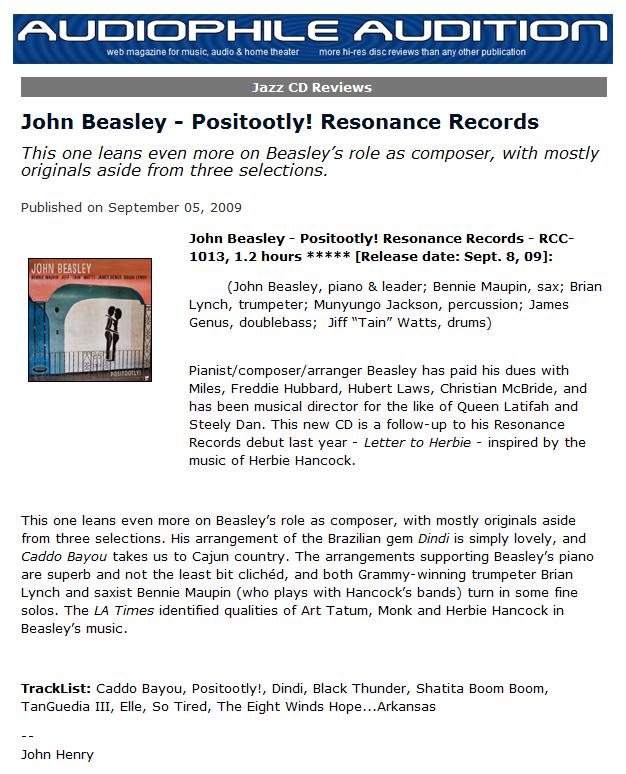 Positootly! ‹ John Beasley